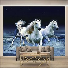 JFSZSD Fototapete Tierisches weißes Pferd Vlies