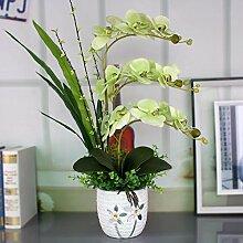 JFWMZyq Künstliche Blume Phalaenopsis Keramik