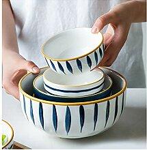 JFya Japanisches Porzellanschalen-Set,