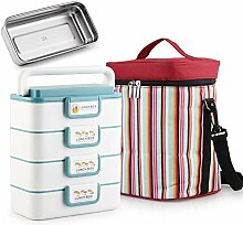 JFya Lunch Box, Double-Layer-Multilayer-Lunch Box