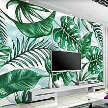 JFZJFZ 3D Fototapete Pflanze Grüne Blätter Dekor