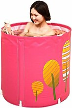 JGWJJ Tragbare Kunststoff-Badewanne Aufblasbare