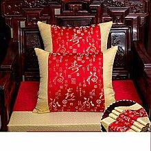 JGXVUYKDFV Chinesisch-Art Kissen/rückenkissen