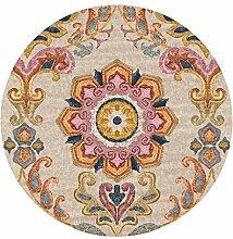 JH Orange runder Teppich Gemütliche Wolldecke des