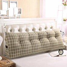 JHBJ Baumwoll-Segeltuch-Druck-Dreieck-Kissen-Paar-Bett-großes Kissen-Kissen-Studenten auf der Taillen-Tasche kann gewaschen und gewaschen werden Taillenkissen ( Farbe : F , größe : 180*50*23cm )