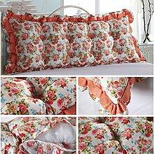 JHBJ Baumwollbett Kissen Sofa Großes Kissen Langes Doppelkissen Großes Rückenlehnenbett Taillenkissen ( Farbe : E , größe : 45*135cm )