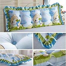 JHBJ Baumwollbett Kissen Sofa Großes Kissen Langes Doppelkissen Großes Rückenlehnenbett Taillenkissen ( Farbe : C , größe : 45*165cm )