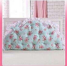 JHBJ Baumwollbett mit großen Kissen auf dem Sofa Baumwolle Doppel Lange Kissen Kissen Korean Bedside Große Rückenlehne Taillenkissen ( Farbe : E , größe : 150*85cm )