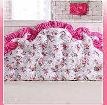 JHBJ Baumwollbett mit großen Kissen auf dem Sofa Baumwolle Doppel Lange Kissen Kissen Korean Bedside Große Rückenlehne Taillenkissen ( Farbe : D , größe : 120*85cm )