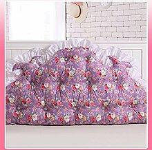 JHBJ Baumwollbett mit großen Kissen auf dem Sofa Baumwolle Doppel Lange Kissen Kissen Korean Bedside Große Rückenlehne Taillenkissen ( Farbe : F , größe : 150*85cm )