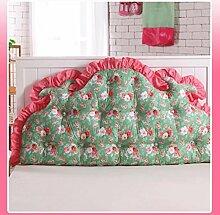 JHBJ Baumwollbett mit großen Kissen auf dem Sofa Baumwolle Doppel Lange Kissen Kissen Korean Bedside Große Rückenlehne Taillenkissen ( Farbe : A , größe : 120*85cm )