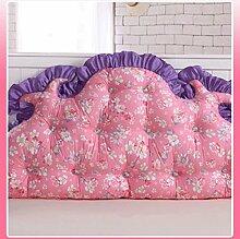 JHBJ Baumwollbett mit großen Kissen auf dem Sofa Baumwolle Doppel Lange Kissen Kissen Korean Bedside Große Rückenlehne Taillenkissen ( Farbe : C , größe : 150*85cm )