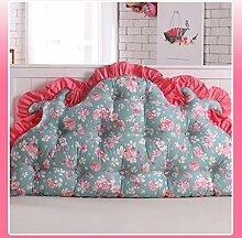 JHBJ Baumwollbett mit großen Kissen auf dem Sofa Baumwolle Doppel Lange Kissen Kissen Korean Bedside Große Rückenlehne Taillenkissen ( Farbe : F , größe : 120*85cm )