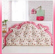 JHBJ Baumwollbett mit großen Kissen auf dem Sofa Baumwolle Doppel Lange Kissen Kissen Korean Bedside Große Rückenlehne Taillenkissen ( Farbe : D , größe : 150*85cm )