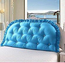 JHBJ Baumwollbett mit großen Kissen auf dem Sofa Cotton Double Long Kissen Kissen Bedside Rückenlehne Core Taillenkissen ( Farbe : A , größe : 120*80cm )