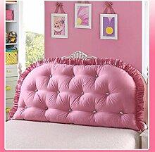 JHBJ Baumwollbett mit großen Kissen auf dem Sofa Cotton Double Long Kissen Kissen Bedside Rückenlehne Core Taillenkissen ( Farbe : D , größe : 120*80cm )