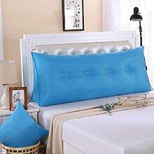 JHBJ Baumwolle und Leinen Doppelbett Kissen Dreieck Kissen abnehmbare waschbare Bett auf der Rückseite der weichen Tasche Hals Kissen Taillenkissen ( Farbe : F , größe : 120*50*20cm )