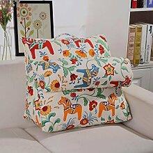 JHBJ Baumwolle Verdickte Leinwand Dreieck Große Kissen Verstellbare Rückenlehne Bett Sofa Büro Lendenwirbel Taillenkissen ( Farbe : E , größe : 60*30*50cm )
