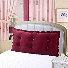 JHBJ Bedside Big Cushions Korean Double Bed Back Pad Bedside Weiche Tasche Bett Kissen Large Taillenkissen ( Farbe : C , größe : 180cm )