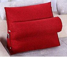 JHBJ Bedside Cotton And Linen Triangle Kissen Bay Fenster Kissen Bett Soft Bag Neck Kissen Back Pad kann gewaschen und gewaschen 45 * 45 * 20cm Taillenkissen ( Farbe : A )