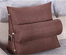 JHBJ Bedside Cotton And Linen Triangle Kissen Bay Fenster Kissen Bett Soft Bag Neck Kissen Back Pad kann gewaschen und gewaschen 45 * 45 * 20cm Taillenkissen ( Farbe : B )