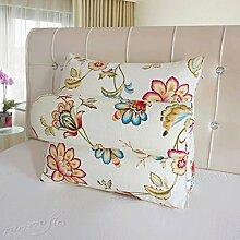 JHBJ Bedside Dreieckige große Rückenlehne Stuhl Kissen Sofa Kissen Kissen Bedside Soft Bag kann gewaschen und gewaschen werden Taillenkissen ( Farbe : D , größe : 45*45*20cm )