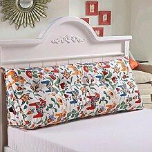 JHBJ Bedside Rückenlehne Dreieck Bett Kissen Sofa Lange Kissen Große Kissen Bett Kissen Mit Core Abnehmbare waschbar Taillenkissen ( Farbe : D , größe : 150*22*50cm )