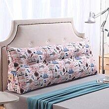 JHBJ Bedside Rückenlehne Dreieck Bett Kissen Sofa Lange Kissen Große Kissen Bett Kissen Mit Core Abnehmbare waschbar Taillenkissen ( Farbe : A , größe : 180*22*50cm )