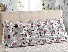 JHBJ Bedside Rückenlehne Dreieck Bett Kissen Sofa Lange Kissen Große Kissen Bett Kissen Mit Core Abnehmbare Waschbar 60 * 22 * 50cm Taillenkissen ( Farbe : C )