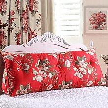 JHBJ Bedside Rückenlehne Dreieck Bett Kissen Sofa Lange Kissen Große Kissen Bett Kissen Mit Core Abnehmbare waschbar Taillenkissen ( Farbe : A , größe : 150*22*50cm )