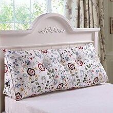JHBJ Bedside Rückenlehne Dreieck Bett Kissen Sofa Lange Kissen Große Kissen Bett Kissen Mit Core Abnehmbare waschbar Taillenkissen ( Farbe : A , größe : 100*22*50cm )