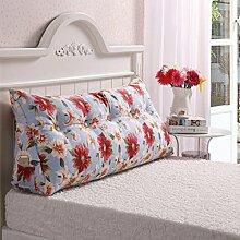JHBJ Bedside Rückenlehne Dreieck Bett Kissen Sofa Lange Kissen Große Kissen Bett Kissen Mit Core Abnehmbare waschbar Taillenkissen ( Farbe : E , größe : 180*22*50cm )