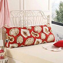 JHBJ Bedside Rückenlehne Dreieck Bett Kissen Sofa Lange Kissen Große Kissen Bett Kissen Mit Core Abnehmbare waschbar Taillenkissen ( Farbe : D , größe : 100*22*50cm )