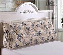 JHBJ Bedside Rückenlehne Dreieck Bett Kissen Sofa Lange Kissen Große Kissen Bett Kissen Mit Core Abnehmbare Waschbar 60 * 22 * 50cm Taillenkissen ( Farbe : A )