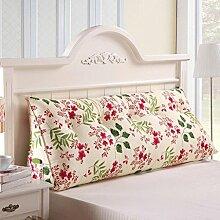 JHBJ Bedside Rückenlehne Dreieck Bett Kissen Sofa Lange Kissen Große Kissen Bett Kissen Mit Core Abnehmbare waschbar Taillenkissen ( Farbe : B , größe : 100*22*50cm )