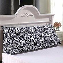 JHBJ Bedside Rückenlehne Dreieck Bett Kissen Sofa Lange Kissen Große Kissen Bett Kissen Mit Core Abnehmbare waschbar Taillenkissen ( Farbe : C , größe : 120*22*50cm )