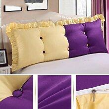 JHBJ Bett Kissen Bett Kissen Bett Rücken Kissen Große Rückenlehne Taillenkissen ( Farbe : A , größe : 150*55cm )