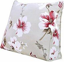 JHBJ Dreieck Kissen Sofa Kissen Nachttasche Pastoral Blumen Kissen Big Bag Taillenkissen ( größe : 45*40*15cm )