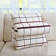 JHBJ Dreieckige große Rücken Sofa Bedside Kissen Taille Pad Bett Soft Bag Büro Kissen Schwimmende Fenster Kissen zurück Taillenkissen ( Farbe : E , größe : 47*40*25cm )