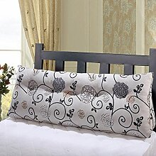 JHBJ Drucken Lange Kissen Nachttisch Kissen Baumwolle Aktiv Leinwand Dreieck Kissen Bett Kissen Sofa Kissen Taillenkissen ( Farbe : C , größe : 90*55*20cm )