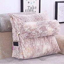 JHBJ Einfache vier Jahreszeiten Drei-Bett-Kissen schützen die Nackensofa Kissen Bürostuhl Taille kann gewaschen und gewaschen werden Taillenkissen ( Farbe : A , größe : 60*55*25cm )