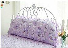 JHBJ Große Rückenlehne Pastoral Prinzessin Wind Baumwolle Baumwollbett Rücken Bett Lange Kissen Doppel-Schlafsofa Kissen Taillenkissen ( Farbe : C , größe : 1.2 meters )