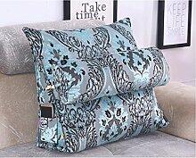 JHBJ Jacquard Triangle Bedside Kissen Sofa Kissen Bett Hals Kissen Büro Taille Rücken Pad kann abnehmbar waschbar Taillenkissen ( Farbe : D , größe : 45*45*20cm )