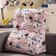 JHBJ Kissen-Bett große hintere Taille durch weiche Paket-Baumwollsegeltuch-Sofa-große Kissen-Kissen schützen das Taillen-Kissen Taillenkissen ( Farbe : F , größe : 45*55cm )