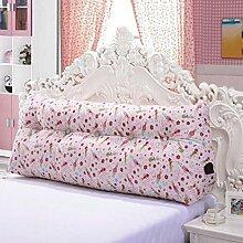 JHBJ Lange Kissen Bedside Kissen Baumwolle Active Canvas Dreieck Kissen Bett Kissen Sofa Kissen Taillenkissen ( Farbe : B , größe : 100*55*25cm )
