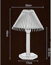 JHBJ Leuchten Chinesische Bambus-Holz Nachttischlampe Beleuchtung Günstige Ausgangsdekoration Pastoral Wohnzimmer Lampe Schlafzimmer Schreibtischlampe ( größe : S )