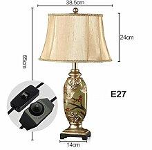 JHBJ Leuchten Dekoration Tischlampe handgemalte Tischlampe Schlafzimmer Wohnzimmer Lampe Nachttischlampe Schreibtischlampe ( farbe : C )