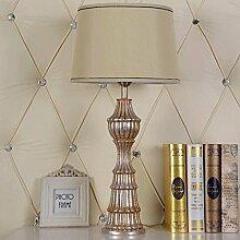 JHBJ Leuchten Moderne minimalistische Wohnzimmer Schlafzimmer Den Stoff Harz Lampe Nachttischlampe Dekoration Schreibtischlampe