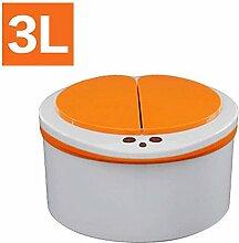 JHBJ Mülleimer Edelstahl Intelligente Infrarot-Sensoren Trash Elektro Trash 3L Abfalleimer ( Farbe : Orange )