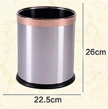 JHBJ Mülleimer Stainless Steel Trash Fuß frei Abfalleimer ( Kapazität : 10l , Farbe : Chrome )